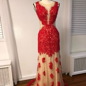 Lace Red Dress (Dave & Johnny)
